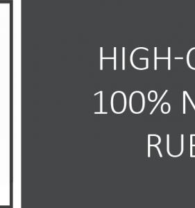 100% natuurlijk rubber