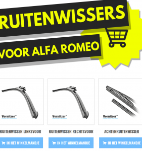 Alfa Romeo 166 Ruitenwissers (Wisserbladen)