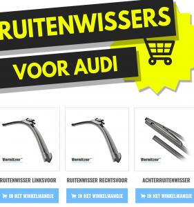 Audi Coupe Ruitenwissers (Wisserbladen) voor en achter