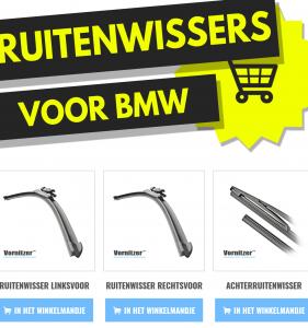 BMW Serie Z3 Ruitenwissers (Wisserbladen) voor en achter