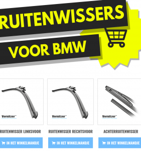 BMW Serie 3 (E90, E91, E92, E93) Ruitenwissers (Wisserbladen) voor en achter