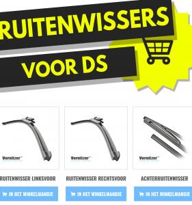 DS DS3 Ruitenwissers (Wisserbladen) voor en achter