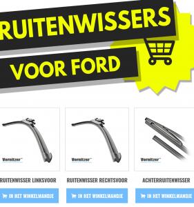 Ford Galaxy Ruitenwissers (Wisserbladen) voor en achter