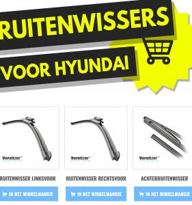 Hyundai i10 Ruitenwissers (Wisserbladen) voor en achter