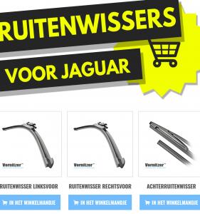 Jaguar XF / XF Sportbrake Ruitenwissers (Wisserbladen) voor en achter