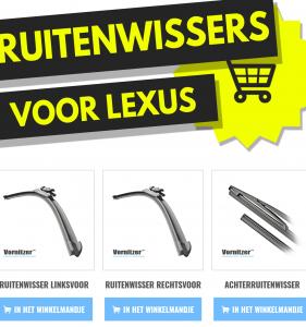 LEXUS RX Ruitenwissers (Wisserbladen) voor en achter