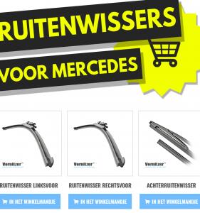 Mercedes Viano Ruitenwissers (Wisserbladen) voor en achter