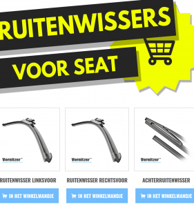 SEAT Mii Ruitenwissers (Wisserbladen) voor en achter