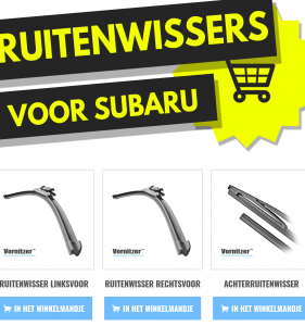 SUBARU XV Ruitenwissers (Wisserbladen) voor en achter